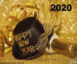 Puzzle de Feliz año nuevo 2020