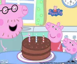 Puzzle de Feliz aniversario Peppa Pig