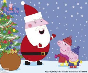 Puzzle de Feliz Navidad Peppa