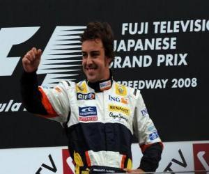 Puzzle de Fernando Alonso en el pódium