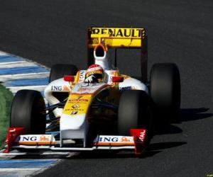 Puzzle de Fernando Alonso pilotando su F1