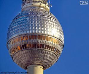 Puzzle de Fernsehturm de Berlin, Alemania