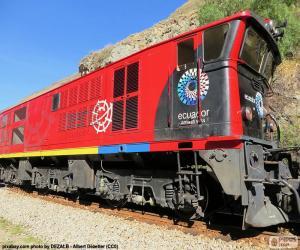 Puzzle de Ferrocarril Transandino de Ecuador