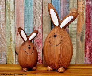 Puzzle de Figuras de conejos de Pascua