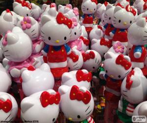 Puzzle de Figuras de Hello Kitty