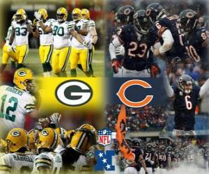 Puzzle de Final campeonato de la NFC 2010-11, Green Bay Packers vs Chicago Bears