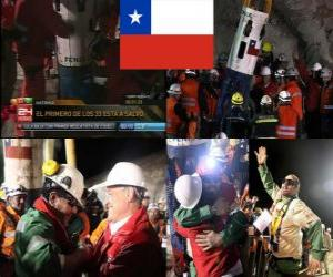 Puzzle de Final feliz rescate mineros Chilenos