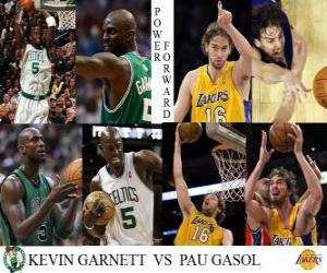 Puzzle de Final NBA 2009-10, Ala-Pívots, Kevin Garnett (Celtics) vs Pau Gasol (Lakers)
