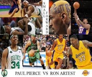 Puzzle de Final NBA 2009-10, Aleros, Paul Pierce (Celtics) vs Ron Artest (Lakers)