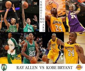Puzzle de Final NBA 2009-10, Escoltas, Ray Allen (Celtics) vs Kobe Bryant (Lakers)