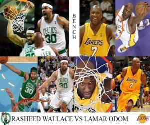 Puzzle de Final NBA 2009-10, Reservas, Rasheed Wallace (Celtics) vs Lamar Odom (Lakers)