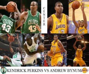 Puzzle de Final NBA2009-10, Pívot, Kendrick Perkins (Celtics) vs Andrew Bynum (Lakers)