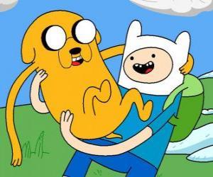 Puzzle de Finn y Jake, los protagonistas principales de Hora de Aventuras