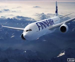 Puzzle de Finnair, aerolínea de Finlandia