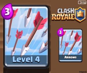 Puzzle de Flechas de Clash Royale