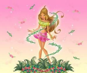 Puzzle de Flora, Hada de las flores