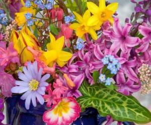 Puzzle de Flores primaverales variadas