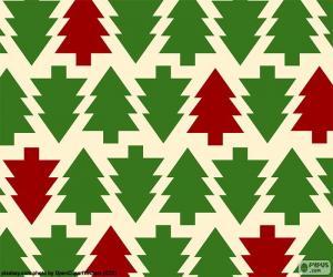 Puzzle de Fondo árboles de Navidad