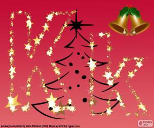 Puzzle de Fondo de Navidad, letra K