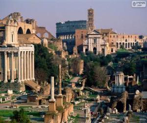 Puzzle de Foro romano, Roma, Italia