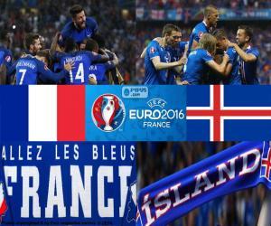Puzzle de FR-IS, cuartos de final Euro 2016