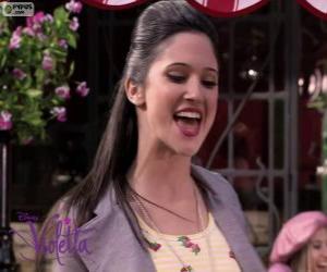 Puzzle de Francesca cantando en Violetta 2