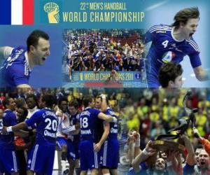 Puzzle de Francia medalla de Oro Mundial de Balonmano 2011