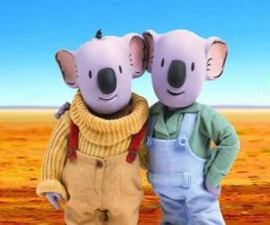 Puzzle de Frank y Buster, los hermanos koala