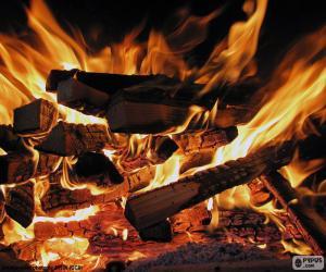 Puzzle de Fuego en la chimenea