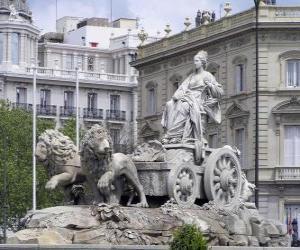 Puzzle de Fuente de Cibeles, Madrid, España