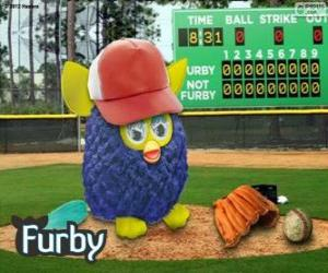 Puzzle de Furby juega a beisbol