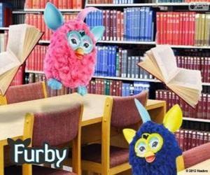 Puzzle de Furbys en la biblioteca