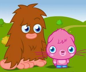 Puzzle de Furi y Poppet, dos divertidos monstruos de Moshi Monsters