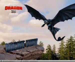Puzzle de Furia Nocturna son dragones pequeños que pueden volar más alto, más rápido y más lejos que cualquier otro dragón