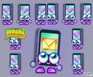 Puzzle de Gabby es una de los Moshlings, tiene la forma de un iPhone o un iPad. Serie Tecno