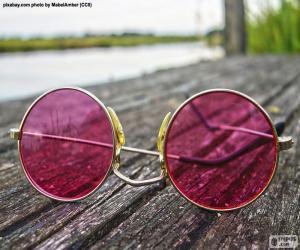 Puzzle de Gafas de sol rosas