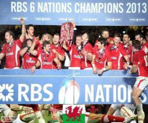 Puzzle de Gales campeona de las Seis Naciones 2013