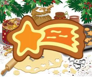 Puzzle de Galleta como una estrella de Navidad