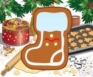 Puzzle de Galleta de la Bota de Papá Noel