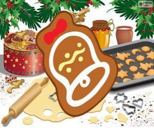 Puzzle de Galleta de Navidad como una campana