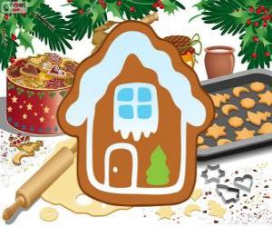 Puzzle de Galleta de Navidad en forma de casa