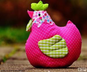 Puzzle de Gallina colorida de Pascua
