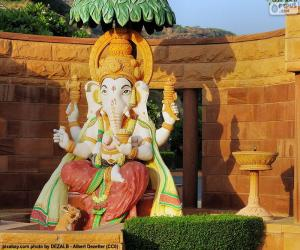 Puzzle de Ganesha o Ganesh, dios de la sabiduría y de las letras