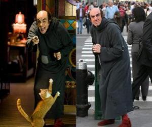 Puzzle de Gargamel y su gato Azrael buscano a los Pitufos en Manhattan