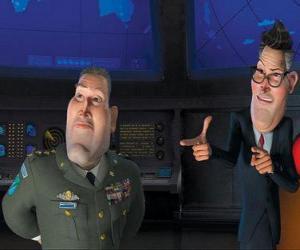 Puzzle de General Monger junto al Presidente Hathaway