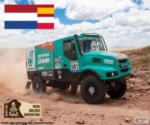 Puzzle de Gerard de Rooy, Dakar 2016