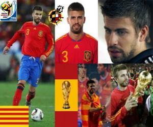 Puzzle de Gerard Piqué (El dandy de España) defensa Selección Española