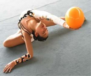 Puzzle de Gimnasia rítmica - Ejercicio con pelota o balón