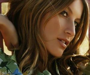 Puzzle de Gisele Bündchen, modelo y actriz brasileña