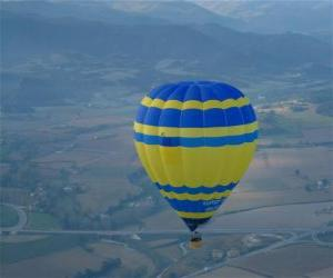 Puzzle de Globo aerostático volando